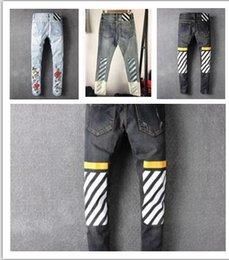 Wholesale Canvas Paste - Senior designer brand 2016 bicycle robin jeans Manual paste crystal golden wings black robin jeans Men's fashion crime zipper pants