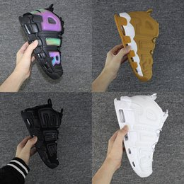 Wholesale More Splits - Air more Uptempo 3M Wheat Olympic Bulls Varsity Maroon Black White Mens Women Running Shoes Airs Scottie Scottie Pippen Basketball Sneakers