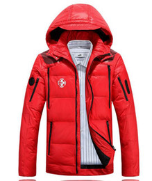 Wholesale Big Red Hood - Men's with thick warm winter new authentic cultivate one's morality with hood led long big yards in the clothing, down jacket. S - 3xl