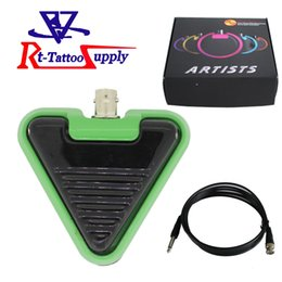 Wholesale Stockings Tattoo Design - New Type Triangle Design Wholesale Footswitch For Tattoo Power Supply With Five Colors Foot Pedal in Stock