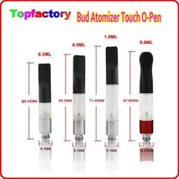 Wholesale Cartridge E Pipe - Bud Atomizer Touch O-Pen with plastic pipe Vape Pen Cartridge 510 Tank Disposable Co2 Cartridge fit with all 510 Battery E Cigarette