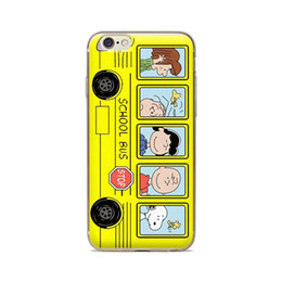 Wholesale Iphone Protective Skins - Wholesale For iPhone 4 4S 5 5S 5C 6 6S 6Plus Of cartoon School Bus Of Skin TPU Silicone Gel Protective Cover