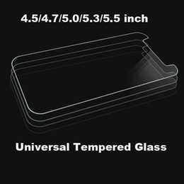 Wholesale screen for alcatel - Universal 4.5 4.7 5.0 5.3 5.5 inch Premium Real Tempered Glass Film Screen Protector Proof For ALCATEL WIKO