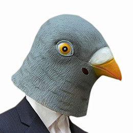 Wholesale Full Pigeon - Pigeon Mask Creepy Halloween Animal Costume Theater Prop Novelty Latex Rubber Party Mask Halloween mask TY930