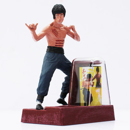 "Wholesale Chinese Action Figures - 4""10cm Bruce Lee Chinese Kung Fu Action Figure Toy PVC Doll Free Shipping"