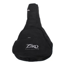 """Wholesale Shoulder Strap For Guitar - Universal Guitar Gig Bag Case Dual Shoulder Straps Pocket 8mm Pearl Wool Padded Black for 41"""" Acoustic Guitar"""