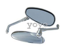 Wholesale Deluxe Chrome - Chrome Motorcycle Rear View Side Oval Mirrors for 2000 Shadow ACE 750 VT750CD Deluxe