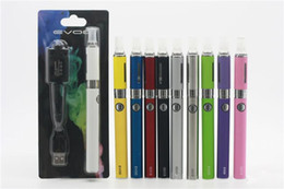 Wholesale E Cigarette Ce4 Blister Battery - MT3 EVOD Blister pack kit eGo starter kits e cigs cigarettes 650mah 900mah 1100mah battery MT3 atomizer CE4