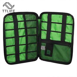 Оптовая торговля-TTLIFE водонепроницаемый электронные аксессуары сумка для хранения чехол для защиты организатор для наушников кабель U диск HDD SD карты от