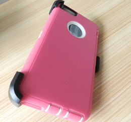Wholesale S3 Retail Clip - Hybrid Robot Case for iphone 4S 5C 5S 6 plus Galaxy Note 3 4 S6 S5 S4 S3 case with Clip & retail package