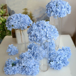 Wholesale Bouquet Chocolates - DHL Free Quality Hydrangea Wholesale Big Flower head 15cm Silk White Hydrangeas Bouquet for Wedding Centerpieces Home Party Decorative