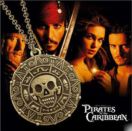 Wholesale Woman Pirate Caribbean - 3 styles Pirates of the Caribbean statement necklaces sterling silver jewelry gold long pendant necklaces for women free shipping