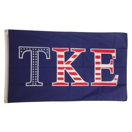 Wholesale flag house - TKE USA Letter National Outdoor Festival party House Banner flag Custom USA Hockey Baseball College Basketball Flags
