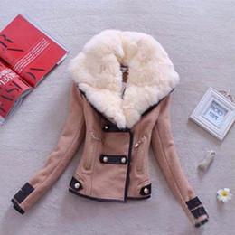Wholesale Wollen Coats - Wholesale- 2017 Hot sale Fashion New Brand Plus Size S-XXL Zipper Slim Solid Coat Jacket Women Wollen Casual Jacket Winter Autumn B37