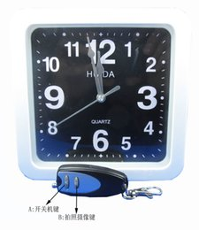Wholesale Retail Digital Cameras - Wireless Wall Clock Hidden Camera 8GB Digital Spy Clock Video Cam Pinhole Nanny DVR with Remote Control in Retail Box