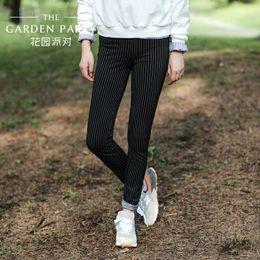 Wholesale Korean Casual Stripe Pants Women - The new spring garden party 2016 Korean casual trousers female slim slim stripe lady long pants