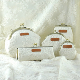 Wholesale Organza Lace Fabric Wholesale - Beauty Lace Clutch Bags National Organza Handbags Cross Body Bag Evening Bags Coin Purse Phone Bags Qipao Dress Bag