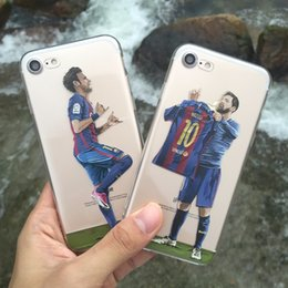 Wholesale Charms For Iphone - Football Star Phone Case For Iphone 6 6s Se 5 S ,Very Charming Messi 10 Lionel Messi Phone Shell For Iphone 7 7 Plus  Neymar