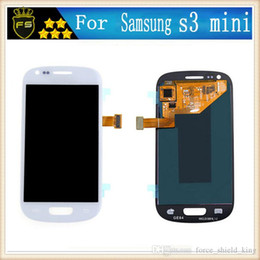 Wholesale Touch Phone Mini S3 - For Samsung Galaxy S3 Mini I8190 LCD touch screen display with digitizer Blue And White Color Cell phone Repair Parts