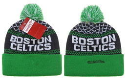 Wholesale Lining Basketball - 2018 New Arrival Beanies Hats American Football Boston Beanies Sports winter side line knit caps CELTICS Beanie Knitted Hats drop shippping