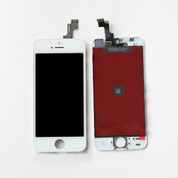 Wholesale Resistive Lcd Touch - High A+ quality LCD Display Touch Digitizer Complete Screen with Frame Full Assembly Replacement for iPhone 5G 5S 5C With Free DHL Shipping