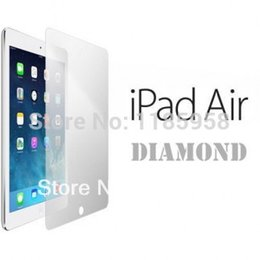 Wholesale Diamond Sparkling Screen Protector - Wholesale-High quality Diamond Bling sparkling Screen Protector For ipad Air glitter Screen Film Guard With Retail Package