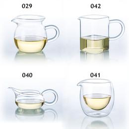 Gotas de té online-Clases de té de vidrio transparente resistente al calor que sirve la jarra chino Gong fu Cha Hai Envío de la gota