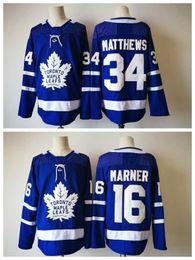 Wholesale Uniform For Men - #16 Marner Hockey Jersey Blue AD style Toronto Maple Leafs Hockey Jerseys #34 Matthews White Hockey Uniform Online for Cheap