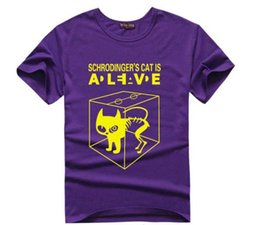 Wholesale Big Bang T Shirts - FG1509 Fashion The Big Bang Theory Men's t shirt Sheldon Cooper Schrodinger's Cat Alive Printing t-shirt Cool Flash Shirts 10 colors