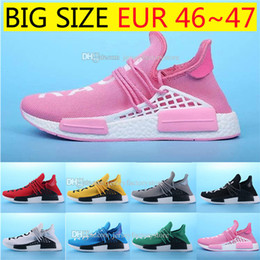 Wholesale Shoes Big Size Man - Big size Human Race NMD Factory Real Boost Yellow Red Green Black Orange NMD Men Pharrell Williams X Human Race NMD Running Shoes Sneakers