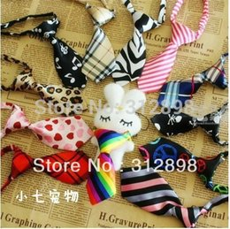 Wholesale Cheap Wholesale Pet Products - Wholesale-10pcs lot Colorful Cheap Pet Dog Tie Grooming Puppy NL-001 Cat Free Size Chihuahua Yorkshire Accessories Products