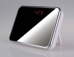 Wholesale Spy Mirror Clock Camera - HD 1280*920P Clock Spy DVR Digital Mirror Table Alarm Clock Hidden Camera with Motion Detection Video Recorder