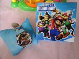 Wholesale Super Mario Cartoon Watch - Wholesale-Lot 1Pcs Super Mario watches wristwatches With Boxes cartoon watch with box free shipping Dropshipping