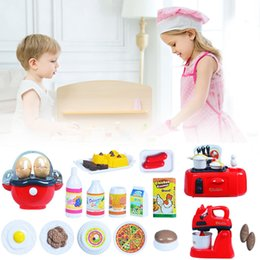 Wholesale Vacuum Cleaner Housing - Wholesale- Kids Kitchen Toy Set Hose Play Roleplay Pretend Coffee Machine Vacuum Cleaner Kitchen Educational Toy Play House Toys