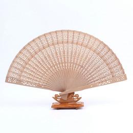 Wholesale Elegan Fashion - DHL 100pcs lot Fashion&Elegan Chinese carved folding wood hand fan 1203#03