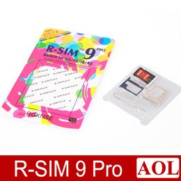 Wholesale pro gsm - Updated R-SIM9 Pro Unlock Card R SIM 9 RSIM9 Pro for iphone 5 5S 5C 4S GSM WCDMA CDMA Unlocking ALL ios7