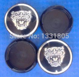 "Wholesale 58mm Wheel Caps - 4pcs 58mm 2.28"" Black Jaguar wheel Center Cover Hub Caps Fit for Jaguar XJ8 XK8 XKR S Type X type Wheel hub"