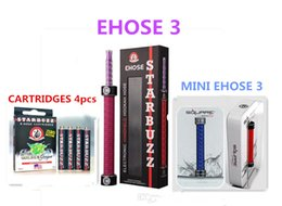 Wholesale hookah cigarettes - Mini E hose 3 Starbuzz ehookah Mini ehookah hose shisha More Portable e cigarette ehookah Square Ehose Mini e-hookah