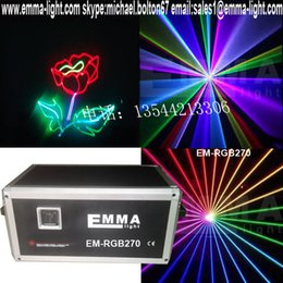 Wholesale Ilda Analog - Wholesale-New Smart 5000mW Analog RGB ILDA stage Full Color Laser lights projector 5W 40K
