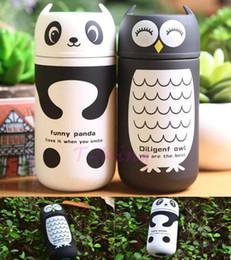Termo calentador online-Mantener caliente 8 horas! Precioso Panda Owl Vacuum Cup 220ml Luz termo de acero inoxidable y botella de agua portátil para niños