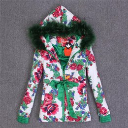 Wholesale Women Clothing Outlets - Wholesale-Factory Outlet 2015 new Love Couture by Lourdes raccoon fur collar and long sections warm cotton clothes Floral women
