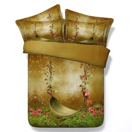 Wholesale Silk Comforter Brown - Mushroom duvet cover 3D comforter sets bedding twin size butterfly super king queen quilt doona bed in a bag sheet double single western
