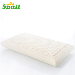 Wholesale Latex Bedding - Wholesale- Snull Brand Natural Latex Therapy Cervical Orthopedic Pillow Sleeping Bedding Pillow Bed Shiatsu Message Pillow