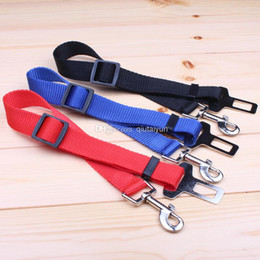 Wholesale Dog Leather Goods - HOT 4COLOR GOOD quality Adjustable Car Vehicle Safety Seatbelt Seat Belt Harness Lead for Cat Dog Pet SIZE 2.5*70CM 5pcs H330