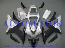 Wholesale Motorcycle Fairings Yamaha R1 - Injection fairing kit for YAMAHA YZF R1 2002 2003 YZF1000 silver black YZF-R1 02 03 motorcycle fairing parts #76CC