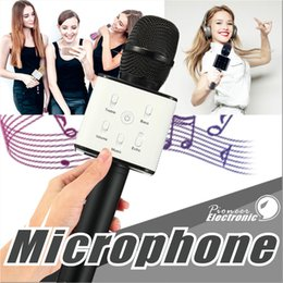 Wholesale Magic Cells - Q7 Handheld Microphone Bluetooth Wireless Magic KTV With Speaker Mic Handheld Loudspeaker Portable Karaoke Player For Smartphone