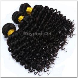 Wholesale Brazilian Deep Wave Hair 5a - 5A Grade Peruvian human virgin hair Deep Wave Hair Wefts 4Pcs Deep Wave Brazilian Virgin Hair