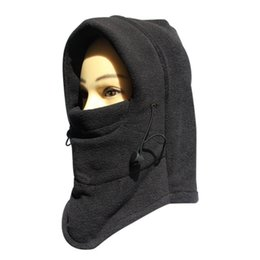 Wholesale Breathable Ski Masks - Wholesale-Cycling Warm Hats Prevent Ski Outdoor Cap Bicycle Face Mask Breathable Snow Fleeces Cycling Mask Hat Riding Headgear 4 Colors