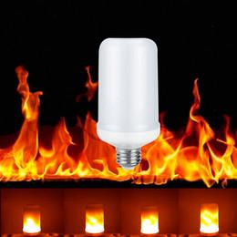 Wholesale Candle Leds Bulbs - E27 E26 LED Lamp Flame Effect 85-265V 2835SMD Led Fire Bulb Flicker flame Light 110V 220V fire Burning Leds Lampada