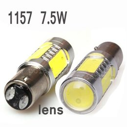 Wholesale Cree 1156 1157 - 2pcs lot Wholesale Guaranteed 100% New 1157 7.5W Lens Buid-In Chip Cree Red 1157 BAY15D 1156 Car Tail Led Bulb Light #e
